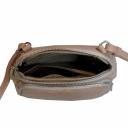 Кожаная женская сумка цвета пудры 2324/141 Украина