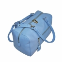 Кожаная женская сумка через плечо голубая 1902/411 Украина
