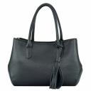 Кожаная женская сумка Украина 2032/101 черная