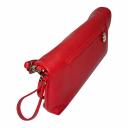 Кожаный клатч женский красный 1513/301 Украина