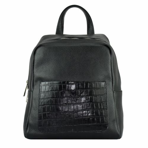 Кожаный рюкзак женский черный 2226/101 Украина