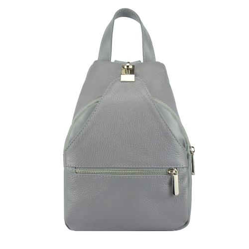 Кожаный рюкзак женский серая 2717/121 Украина