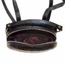 Кожаный рюкзак женский черный питон Karya 0779/109 Турция