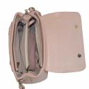 Красивая сумка кожаная женская светлая 2076/141 Украина