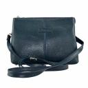 Красивая сумка кожаная женская синяя Karya 2122/401 Турция