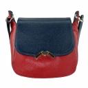 Красивая сумочка из натуральной кожи женская красная синяя 2282/301-401 Украина