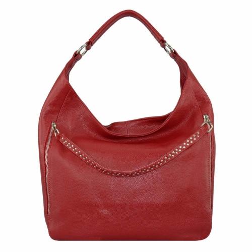 Красивая женская сумка из кожи красная 2053/301 Украина