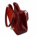 Красная сумка кожаная 990/301-308 Украина замшевая