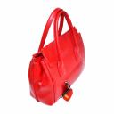 Красная сумка кожаная женская с ручками 1851/301 Украина