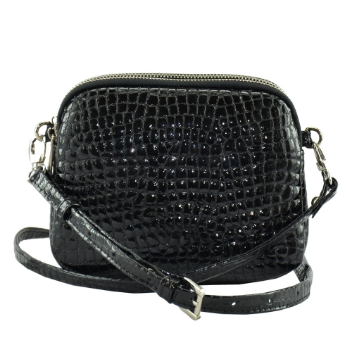 Лаковая сумка 1808/105 Украина черная