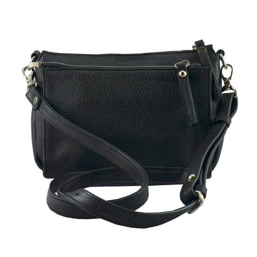Маленькая сумка через плечо 2223/101 Украина черная