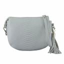 Маленькая сумка через плечо светлая серая женская 2333/129 Украина