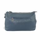 Маленькая сумка через плечо женская кожаная синяя 1574/401 Украина