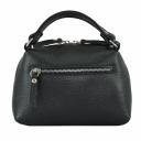 Маленькая сумка женская черная кожаная 2192м/101 Украина