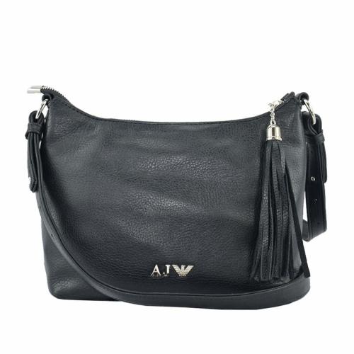 Маленькая сумка женская из натуральной кожи черная 1128/101 Украина