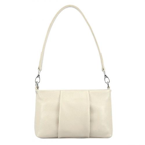 Маленькая сумка женская кожаная светлая 2693/231 Украина
