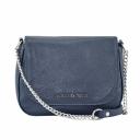 Маленькая сумочка через плечо женская кожаная синяя 1893/401 Украина