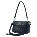 Мини-сумка кожаная женская черная 2474/104 Украина