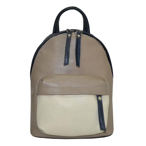 Модный рюкзак кожаный женский комбинированный 2231/221 Украина