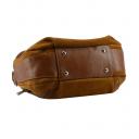 Молодежная сумка кожаная рыжая 2593/218м Украина