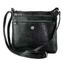 Молодежная сумка кожаная черная Karya 0690/109 Турция