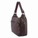 Натуральная кожаная сумка женская 2055/311 Украина бордовая