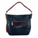 Натуральная кожаная сумка женская синяя красная 2307/401-301 Украина