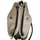 Натуральная кожаная сумка женская бежевая коричневая 921/231-201 Украина