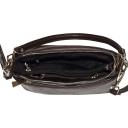 Недорогая сумка через плечо кожаная коричневая 2138/201 Украина
