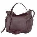 Оригинальная сумка из натуральной кожи женская бордо 2115/311м Украина