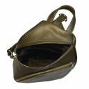 Рюкзак для города кожаный женский оливка 2663/501 Украина