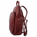 Рюкзак для города кожаный женский бордовый Karya 0738/311 Турция