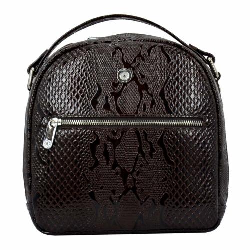 Рюкзак для города кожаный женский шоколад питон Karya 0779/209 Турция
