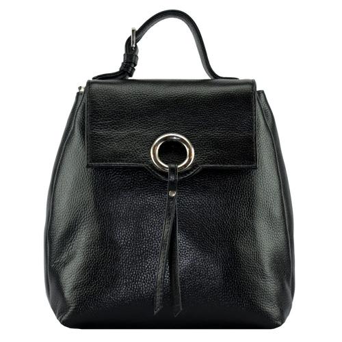 Рюкзак из кожи женский черный 2617/101 Украина