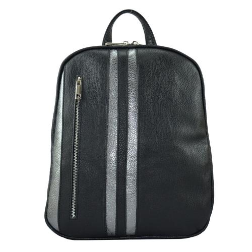 Рюкзак из натуральной кожи черный 2481/101-811 Украина