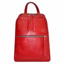 Рюкзак кожаный женский красный 2227/301 Украина