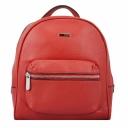 Рюкзак кожаный женский красного цвета Karya 0781/301 Турция