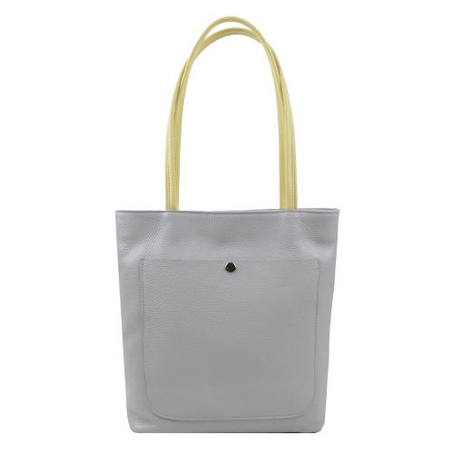 Серая женская сумка из натуральной кожи тонкая 2462/121 Украина