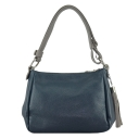 Шкіряна сумка 2306/401-221 Украина синя