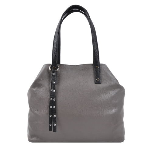 Шкіряна жіноча сумка сіра 2506/121 Україна