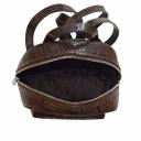 Шкіряний рюкзак жіночий шоколад питон Karya 0781/209 Турція