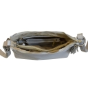 Стильная сумка из натуральной кожи серая 1128/121 Украина