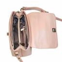Стильная сумка женская из натуральной кожи светлая 2075/141 Украина
