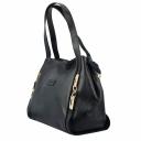 Стильная сумка женская из натуральной кожи черная KARYA 4003/101 Турция