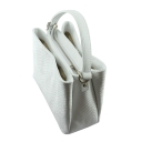 Сумка белая кожаная натуральная 2278/019 Украина