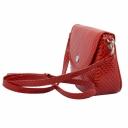 Сумка через плечо маленькая кожаная женская красная тисненая Karya 0775/300 Турция