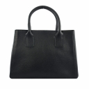 Сумка черная женская кожаная модная каркасная KARYA 5025/101 Турция