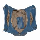 Сумка голубая кожаная женская природной текстуры 990/411 Украина