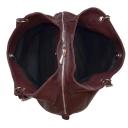 Сумка мешок кожаная женская бордо 990/311 Украина