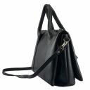 Сумка портфель кожаная черная 2386/101 Украина